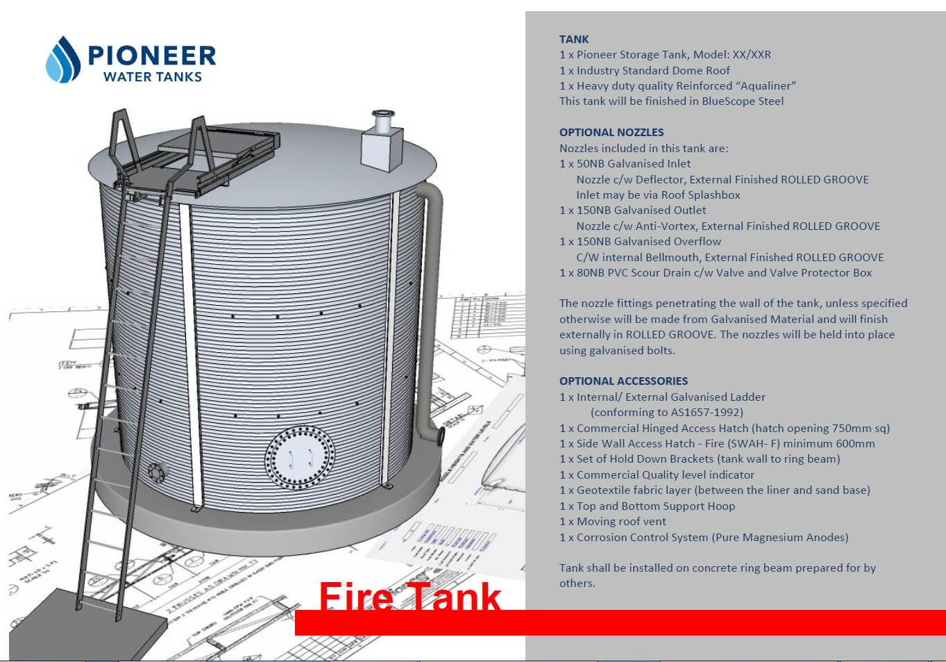Fire Water Storage Tanks By Pioneer Divine Water Tanks